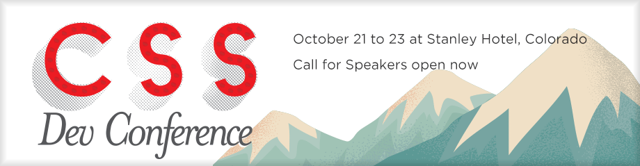 Speak at CSS Dev Conf